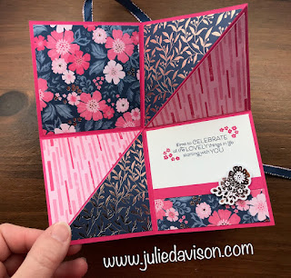VIDEO: Stampin' Up! Everything is Rosy Run Fold Cards ~ www.juliedavison.com