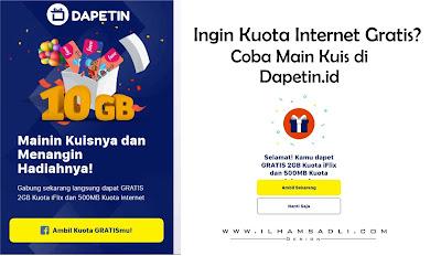 Suka Kuota Internet Gratis? Coba Main Kuis di Dapetin.id