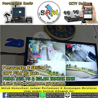 Pemasangan CCTV 24 Jam Berwarna Pada PRIMA JAYA & PET SHOP di Pakandangan
