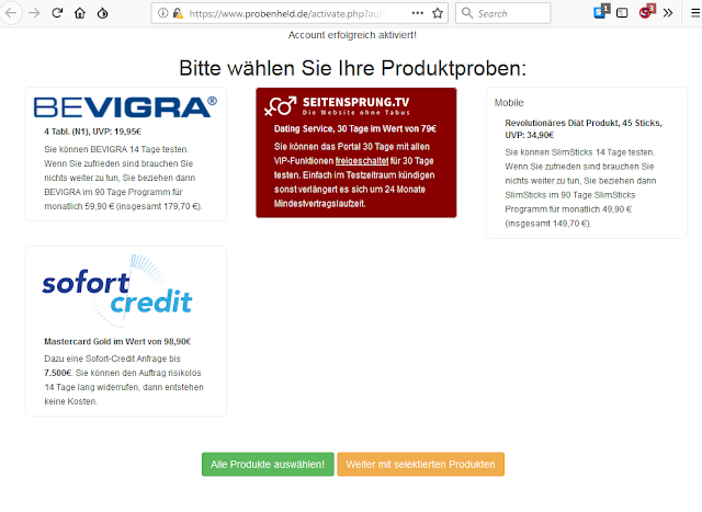 Scan: Screenshot Probenheld.de / JAN 2019