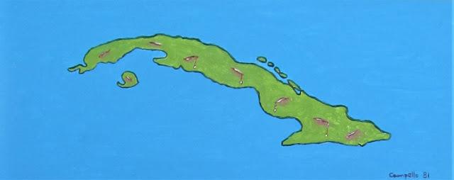 Cuba - Isla Herida 1981 Acrylic painting by Florencio Lennox Campello