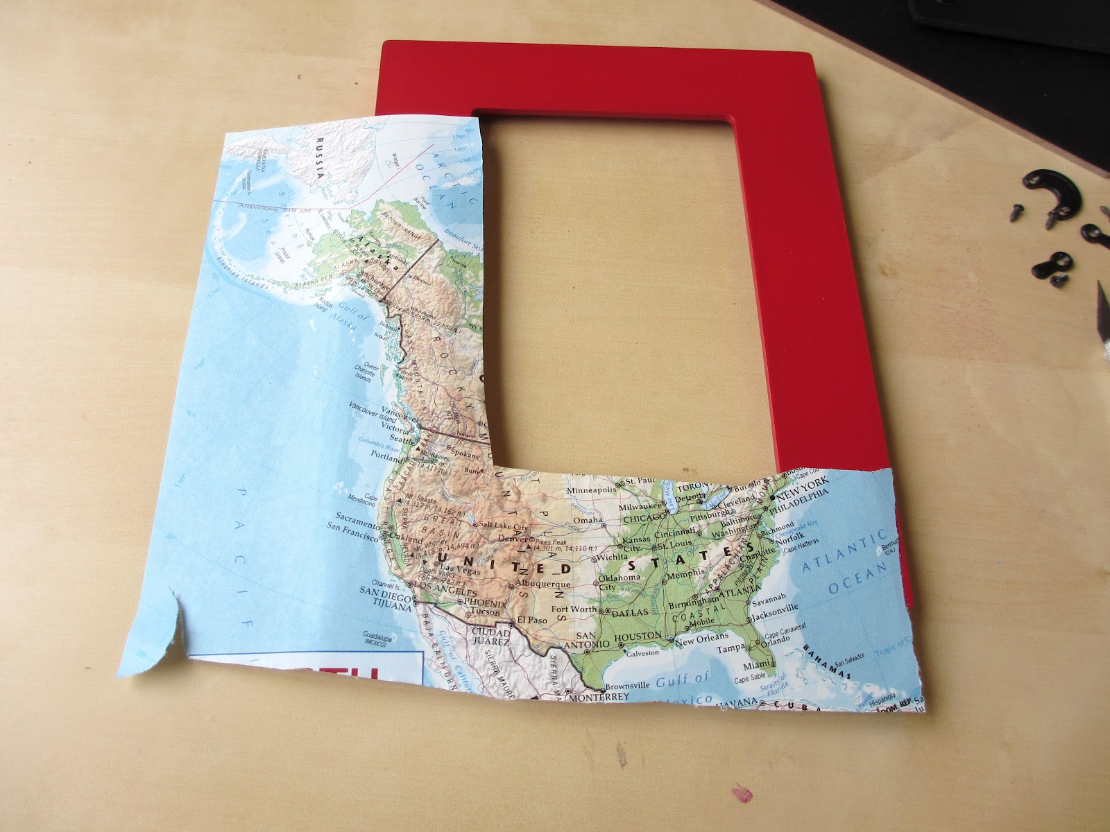 Crafts After College: Map Frame on map of paris tourist attractions, map puzzles, map art, map services, map design,