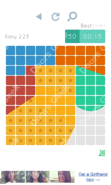 Cheats, Walkthrough for Blocks and Shapes Level 223