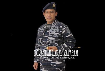 Komandan Pangkalan TNI AL (Danlanal) Mataram Kolonel Laut (P) Suratun, S.H.