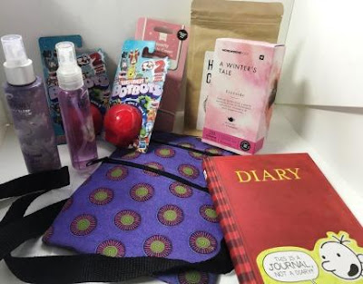 Shweshwe goody bag with goodies