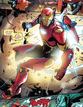 En 2018, Iron Man utilizó este nuevo traje