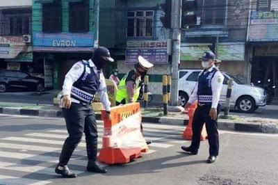 Akses Keluar Masuk Kota Medan ditutup