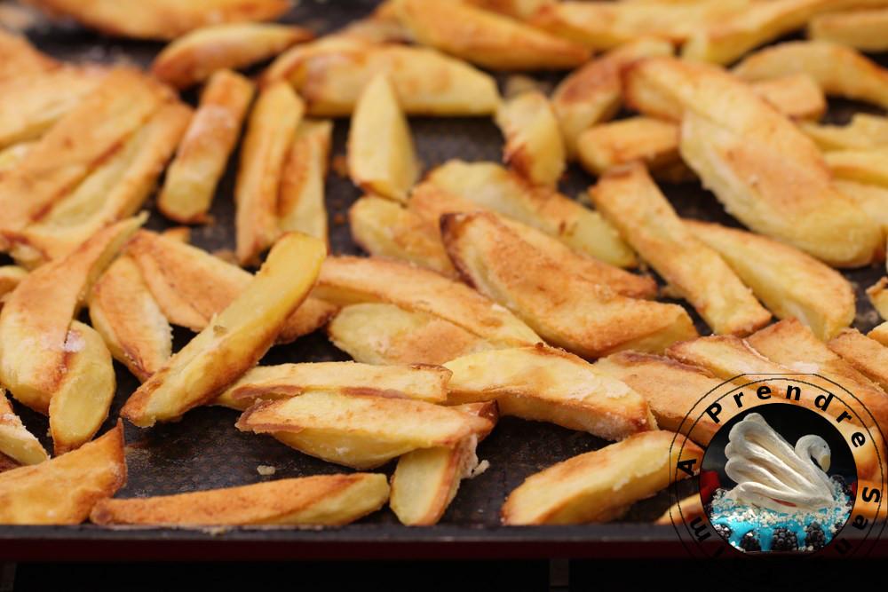 Frites au four croustillantes