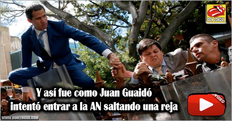 Y así fue como Juan Guaidó intentó entrar a la AN saltando una reja