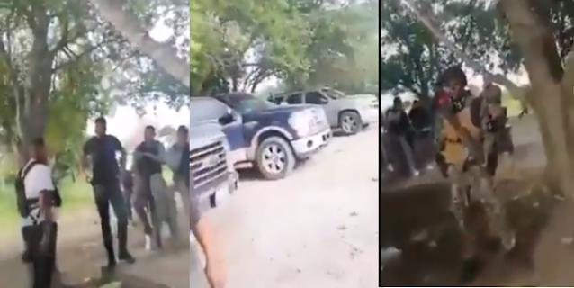 Video: Como vulgares rateros de medio pelo, Sicarios del Cártel del Noreste se graban en el monte con los vehículos y cosas robadas en la Carretera de N. Laredo- Monterrey