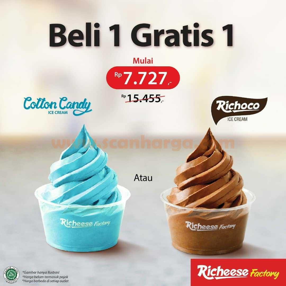 Promo Richeese Factory Beli 1 Gratis 1 Ice Cream Cup Mulai Rp 7.727*