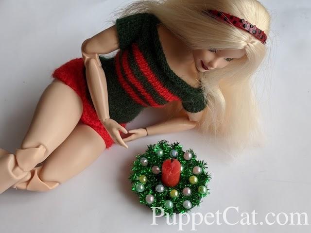 Новогодняя свечка для Барби