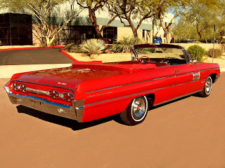 1962 Oldsmobile 98 Luxury Convertible Rear Right
