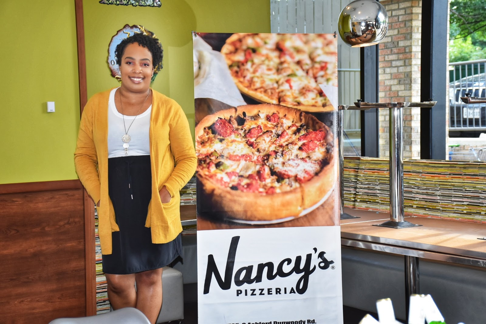 Celebrating Black Restaurant Week at Nancy's Pizzeria in Dunwoody, Georgia