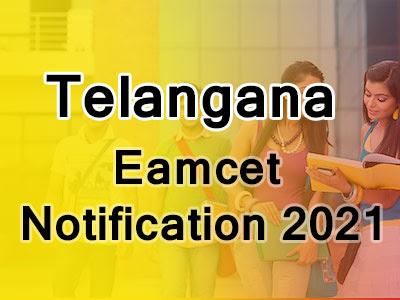 Telangana Eamcet Notification 2021