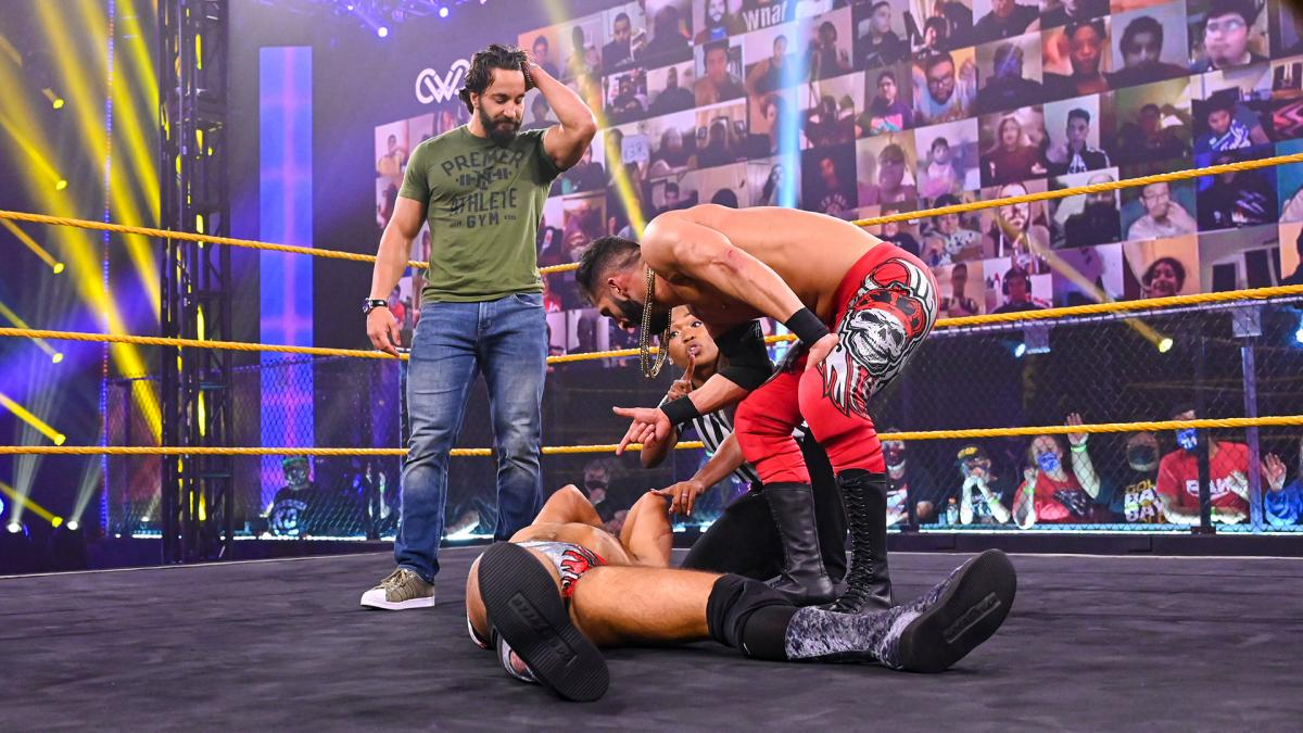 Ariya Daivari, Tony Nese, August Grey on 205 Live