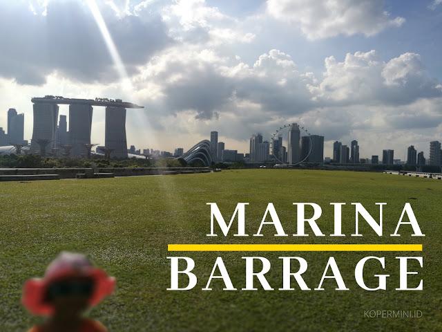 Bendungan yang jadi objek wisata Singapura