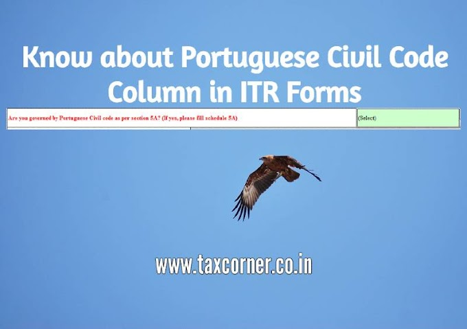 Know about Portuguese Civil Code Column in ITR Forms
