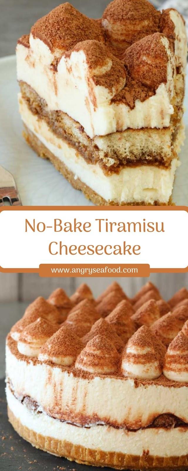 No-Bake Tiramisu Cheesecake