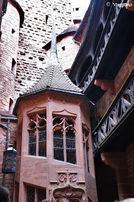 La Corte del castello di Haut Koenigsbourg
