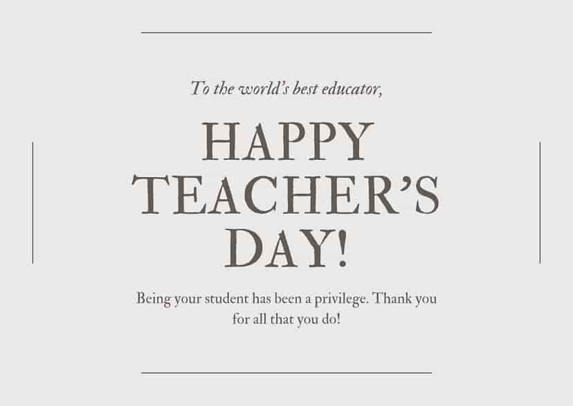 teacher day wishes from students