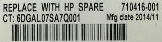 Exemplo de codigo da bateria HP