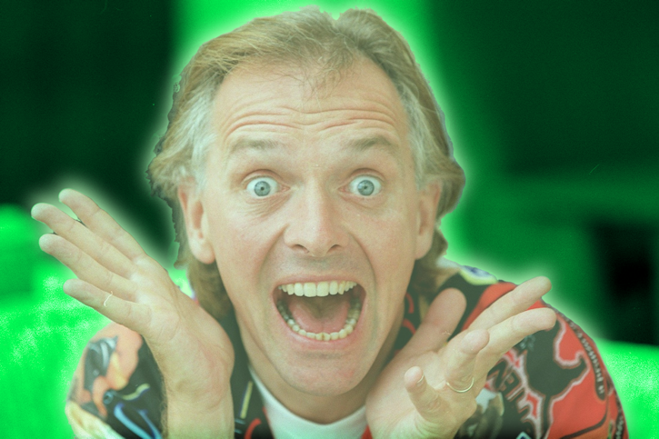 Rik Mayall is thrilled to receive the STP Lifetime Achievement Award