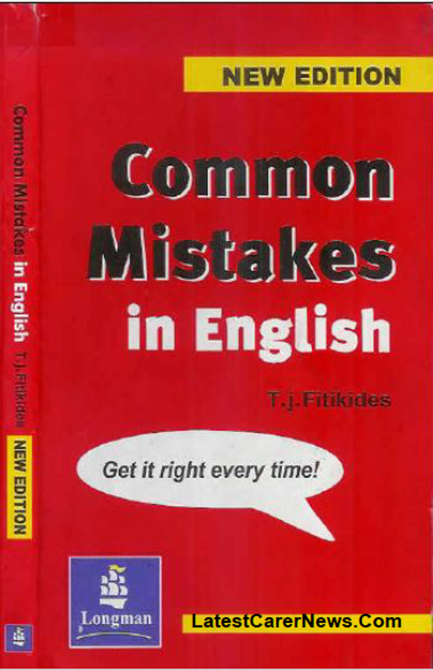 Common Mistakes in English With Exercises : For All Competitive Exam PDF Book