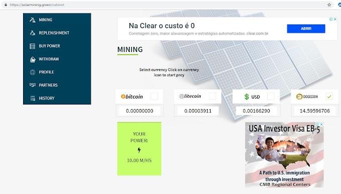 MMO - Solarmining đào bitcoin , usd , litecoin ,dogecoin mà không cần treo máy