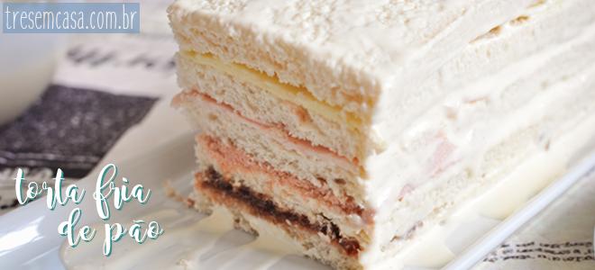 torta de pão simples