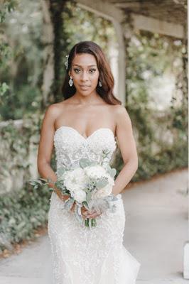 bridal portraits with bouquet