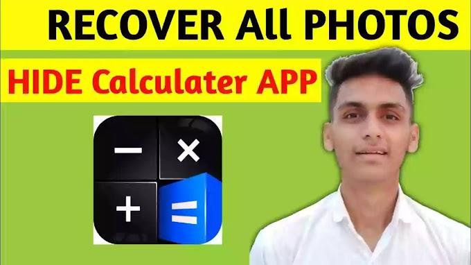 How To Recover Photos Calculator Hide App or Hidex Calculator Lock App