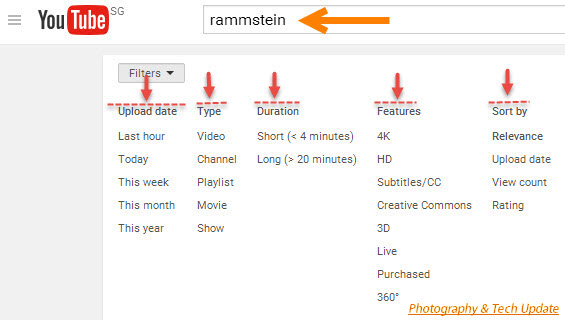advanced youtube videos search tips