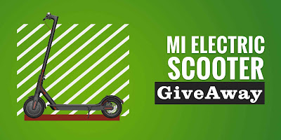 Enter to win a Mi Electric Scooter. #Giveaway ends 9/15/19