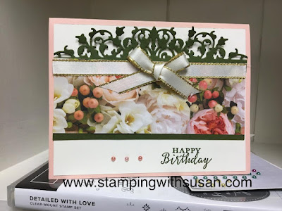 Stampin' Up!  Delicate Lace Edges, Detailed With Love, www.stampingwithsusan.com