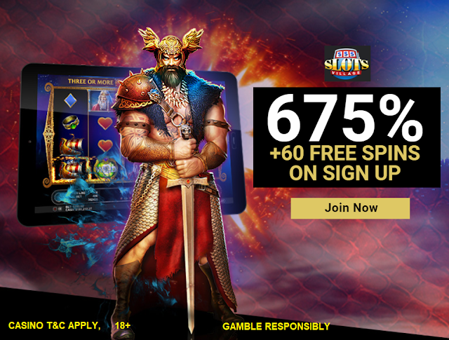Slots Village Casino 675% Welcome Bonus Package and 60 Free Spins