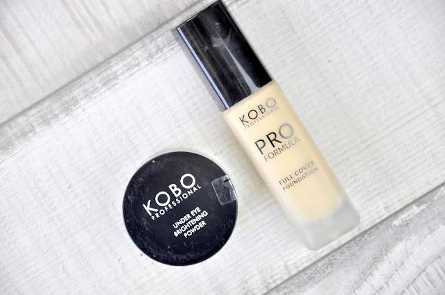 podkład do twarzy kobo pro formula full cover foundation, puder pod oczxy kobo under eye brightening powder