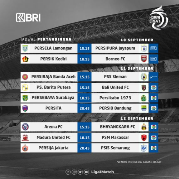 Jadwal Liga 1 2021 - 2022 Siaran Langsung TV