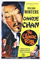 Póster película Charlie Chan en el anillo chino