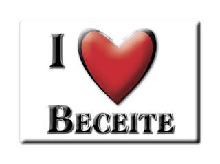 SOUVENIR ESPAÑA ARAGÓN IMAN MAGNET SPAIN CORAZON I LOVE BECEITE (TERUEL)
