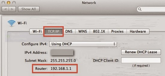 configurazione del router