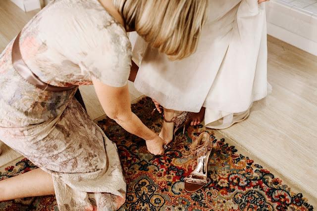 boho beaded wedding shoes