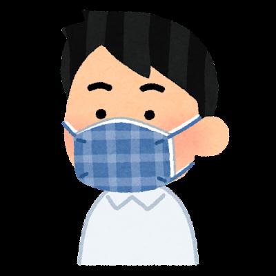 二重マスクのイラスト(男性)