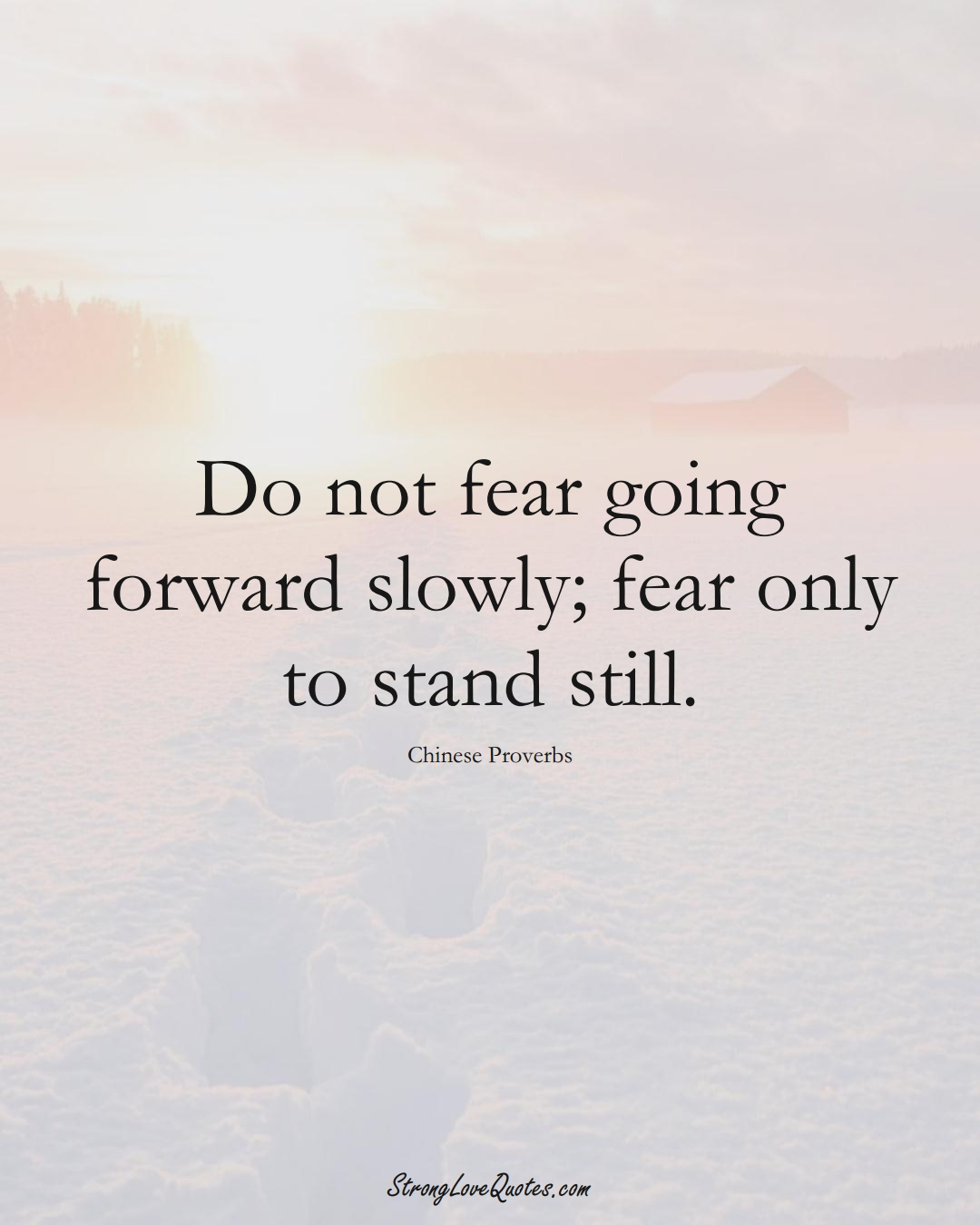Do not fear going forward slowly; fear only to stand still. (Chinese Sayings);  #AsianSayings