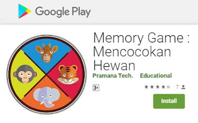 Aplikasi - Memory Game : Mencocokan Hewan