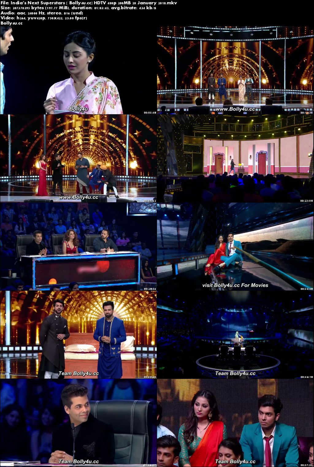 Indias Next Superstars HDTV 480p 200MB 28 January 2018 Download