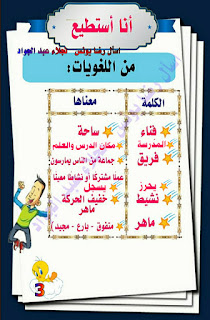 مذكرة شرح درس انا استطيع للصف الثاني الابتدائي الترم الاول للاستاذة نجلاء عبد الجواد