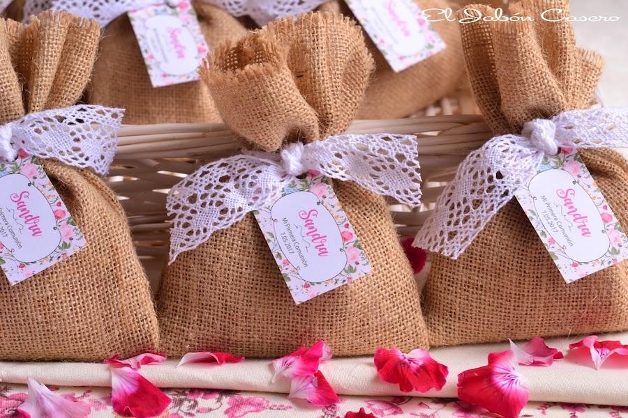Detalles para invitados comuniones saquitos aromaticos naturales artesanales