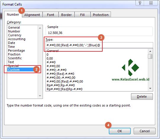 Cara membuat custom number format excel