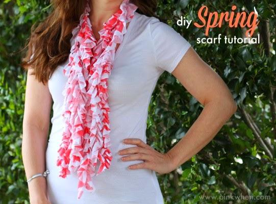 diy spring scarf
